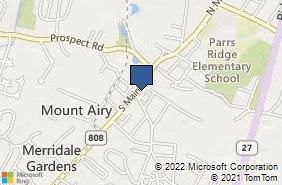 Bing Map of 1 Park Ave Ste 1b Mount Airy, MD 21771