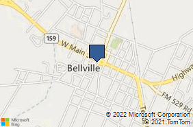 Bing Map of 10 S Holland St Bellville, TX 77418