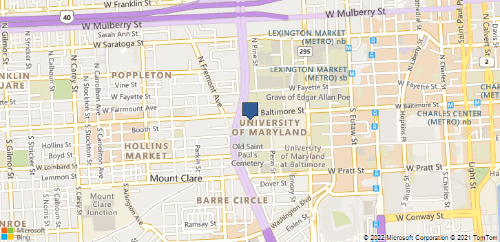 10 S Pine St Rm 900 Baltimore, MD, 21201 Map