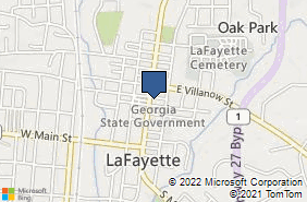 Bing Map of 100 E Patton St La Fayette, GA 30728
