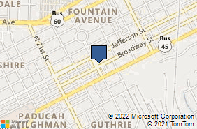 Bing Map of 100 Fountain Ave Ste 404 Paducah, KY 42001