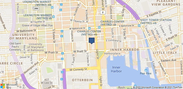 100 Light St Baltimore, MD, 21202 Map