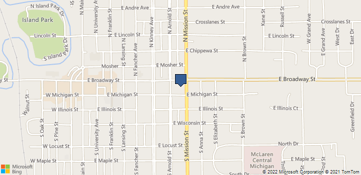 100 South Mission Street Suite A Mount Pleasant, MI, 48858 Map