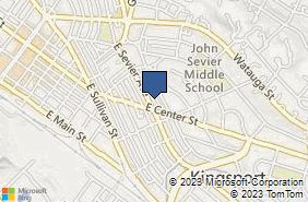 Bing Map of 1000 E Center St Kingsport, TN 37660
