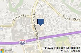 Bing Map of 1000 Green Valley Pkyw Ste 450 Henderson, NV 89074