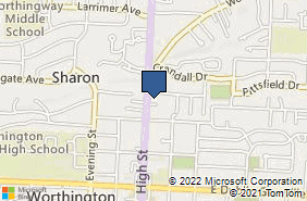 Bing Map of 1000 High St Ste E Worthington, OH 43085