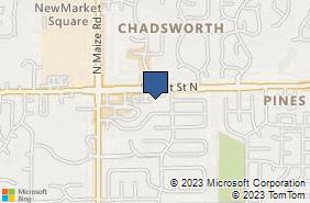 Bing Map of 10011 W 21st St N Ste 107 Wichita, KS 67205