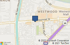 Bing Map of 10039 Bissonnet St Ste 226 Houston, TX 77036