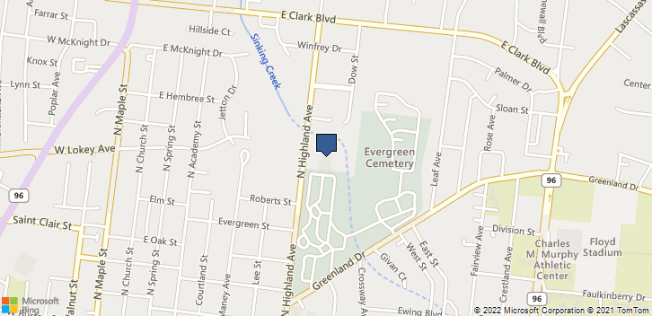1004 N Highland Ave Murfreesboro, TN, 37130 Map