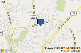 Bing Map of 1006 E Blue Bell Rd Brenham, TX 77833