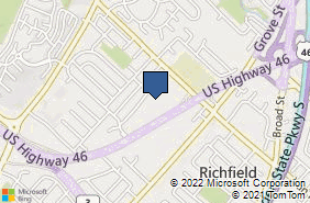 Bing Map of 1006 Route 46 Clifton, NJ 07013