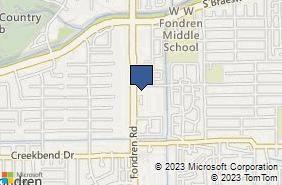 Bing Map of 10101 Fondren Rd Ste 223 Houston, TX 77096