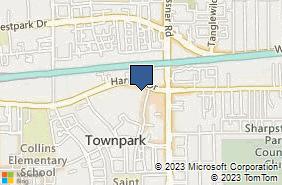 Bing Map of 10101 Harwin Dr Ste 215 Houston, TX 77036