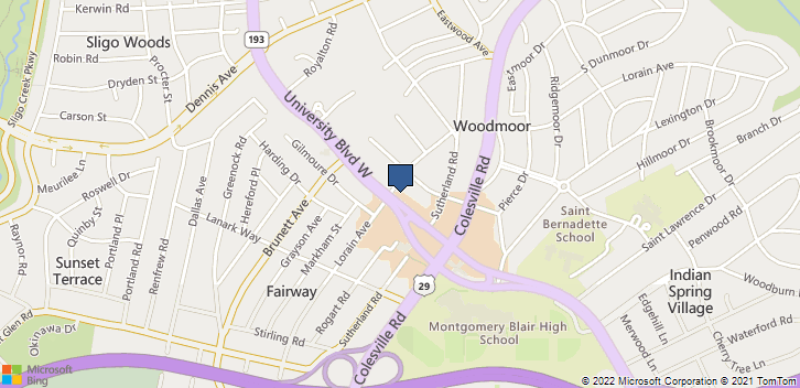 10101 Lorain Ave Silver Spring, MD, 20901 Map