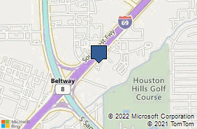 Bing Map of 10101 Southwest Fwy Ste 400 Houston, TX 77074
