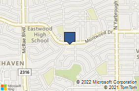 Bing Map of 10110 Montwood Dr Ste A El Paso, TX 79925