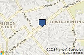 Bing Map of 1012 Huntington Dr San Marino, CA 91108