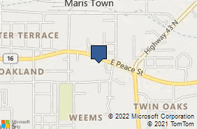 Bing Map of 1014 E Peace St Canton, MS 39046