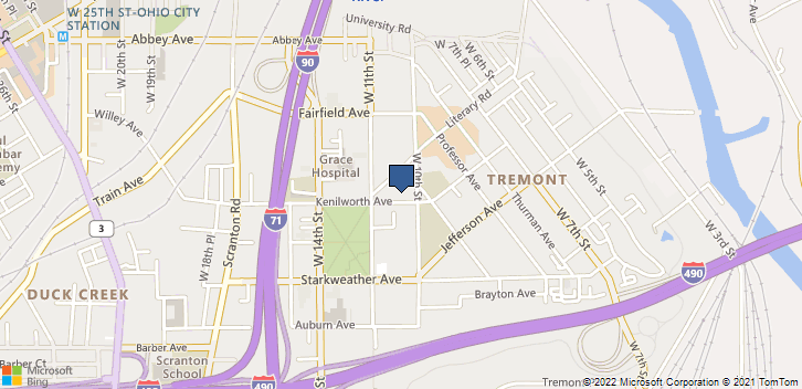 1014 Kenilworth Ave Cleveland, OH, 44113 Map