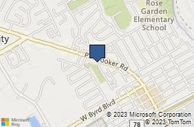 Bing Map of 1017 Pat Booker Rd Ste C Universal City, TX 78148