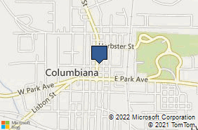 Bing Map of 102 N Main St Columbiana, OH 44408