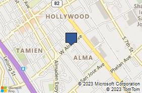 Bing Map of 102 W Alma Ave San Jose, CA 95110