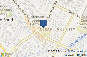 Bing Map of 1020 Bay Area Blvd Ste 108 Houston, TX 77058