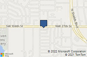 Bing Map of 1020 Nw 27th St Moore, OK 73160