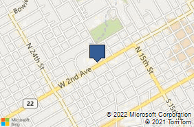 Bing Map of 1020 W 2nd Ave Corsicana, TX 75110
