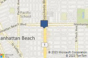 Bing Map of 1021 N Sepulveda Blvd Ste O Manhattan Beach, CA 90266