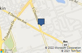 Bing Map of 1021 S Chestnut St Ste 3 Lufkin, TX 75901