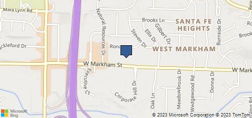 Bing Map of 10220 W Markham St Ste 110 Little Rock, AR 72205