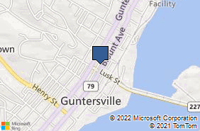 Bing Map of 1024 Blount Ave Guntersville, AL 35976