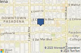 Bing Map of 1030 E Green St Ste 110 Pasadena, CA 91106