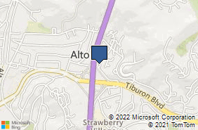 Bing Map of 1038 Redwd Frtg Rd Ste 3 Mill Valley, CA 94941