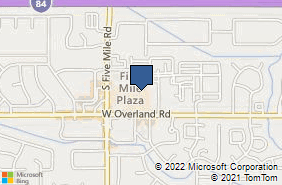 Bing Map of 10382 W Overland Rd Boise, ID 83709