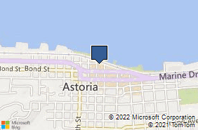 Bing Map of 104 10th St Astoria, OR 97103