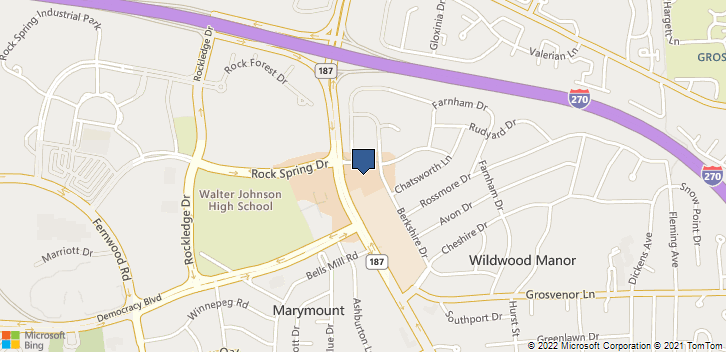10401 Old Georgetown Rd Bethesda, MD, 20814 Map