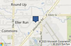 Bing Map of 10412 Allisonville Rd Fishers, IN 46038