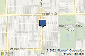 Bing Map of 10433 S Kedzie Ave Chicago, IL 60655
