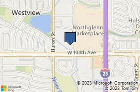 Bing Map of 10465 Melody Dr Ste 117 Northglenn, CO 80234