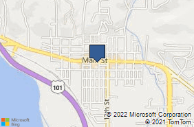 Bing Map of 1049 Main St Fortuna, CA 95540