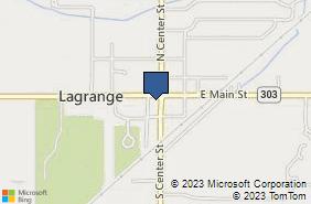 Bing Map of 105 Public Sq Apt 2 Lagrange, OH 44050
