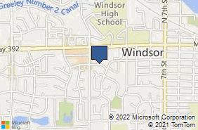 Bing Map of 1051 Main St Windsor, CO 80550