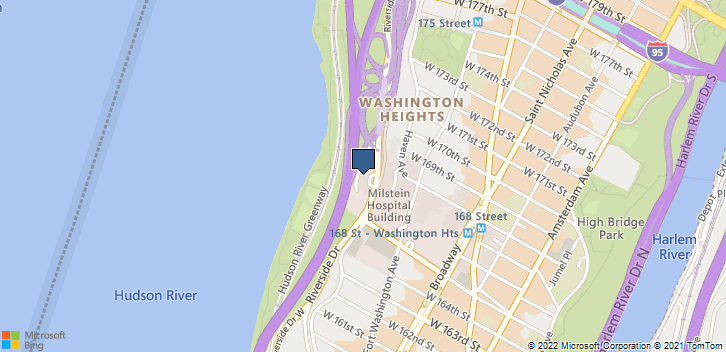 1051 Riverside Dr New York, NY, 10032 Map