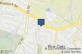 Bing Map of 10521 Braddock Rd Ste A Fairfax, VA 22032