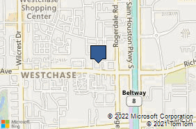 Bing Map of 10550 Richmond Ave Ste 190 Houston, TX 77042