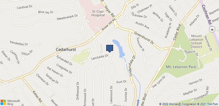 1060 Lakemont Dr Pittsburgh, PA, 15243 Map