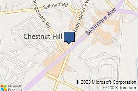 Bing Map of 10610 Rhode Island Ave Ste 202 Beltsville, MD 20705