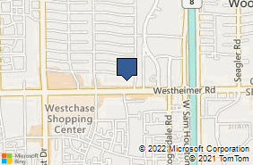 Bing Map of 10672 Westheimer Rd Houston, TX 77042